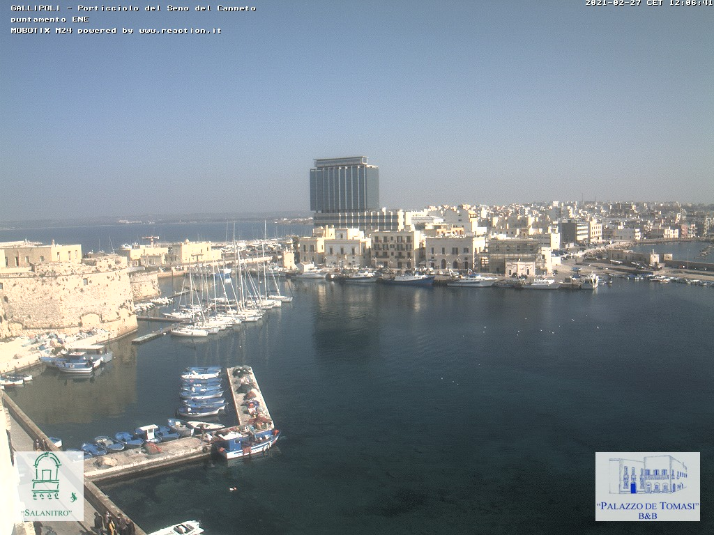 Webcam Gallipoli - Antico Porto del Seno del Canneto